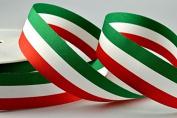 15mm, 25mm & 40mm Italian Flags & Stripes Ribbon x 25 Metre Rolls!!