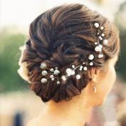 Veewon 6pcs Pearl Rhinestone Hair Clip Wedding Bridal Jewellery Bridal Hair Accessories