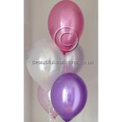 30x Vintage Sweet Pea Range Pearlised Latex Balloons