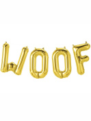 Gold Woof Foil Balloon Kit - Dog Birthday Party Decoration!