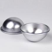 KING DO WAY Bath Bomb Moulds DIY Bath Fizzy Metal Bath Mould Round Ball Moulds Aluminium 5.5*2.5cm