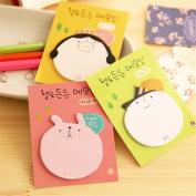 Affe 3 Pcs/lot Cartoon Head Mini Memo Pad Sticky Notes Self-Adhesive Label Office School Supplies Gift