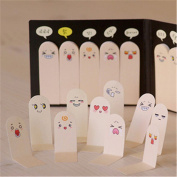 Affe 3 Pcs/Lot Unique Art Scrapbook Cute Stickers Labels Signs Of Ten Fingers Expressions Bookmarks Marks Notes Office Memos Stationery