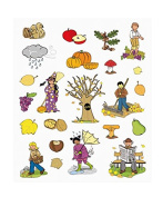Blister 3 Sheets Self Adhesive Stickers Autumn