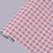 Ruby Red Gingham Adhesive Decorative Contact Paper Laminate Shelf and Drawer Liner 45cm x 200cm