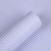 Blue Stripe Adhesive Decorative Contact Paper Laminate Shelf and Drawer Liner Peel and Stick Wallpaper 45cm x 200cm
