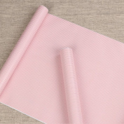 Pink Stripe Adhesive Decorative Contact Paper Laminate Shelf and Drawer Liner Peel and Stick Wallpaper 45cm x 200cm