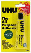 4 X UHU All Purpose Glue Strong Solvent-free Washable 32ml