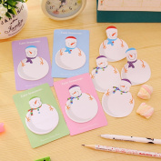 Affe 4Pcs Cute Snowman Label Planner Stickers Sticky Notes Memo Pad Post It Office And School Supplies Christmas Gift