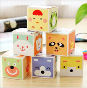 Affe 1 Box Cute Animal Pattern Message Note Paper Sticky Label Mini Note Pads for School Office Supplies Stationery
