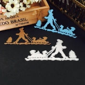 Christmas Halloween Paper Decor , Janly® Cute Witch / Snowman Metal Cutting Dies Stencil DIY Scrapbooking Photo Album Decor Embossing Cards Making DIY Crafts