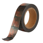 Buimin Retro Printing Paper Tape Dark Forest DIY Mask Decoration Tape Roll