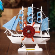 JIANGU, sailing model, creative wooden sailboat, home accessories, desktop ornaments children, student gifts