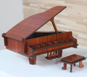 JIANGU,Wooden piano model, home furnishings Decoration Decoration, Creative Wooden Model Piano, Mini Musical Instruments