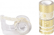 Heyda 12mm x 3m Metallic Deco Sticky Tape 5pcs - Gold 203584577