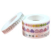 Scrox 4 Rolls Decorative Washi Rainbow Sticky Paper Decorative Tapes for DIY Arts and Crafts, Scrapbook, Planners and Room decoration