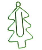 Scrox Novelty Paper Clips Fasten Cute Christmas Tree Shape Mini Bookmarks Clips Durable Metal Clip Holders