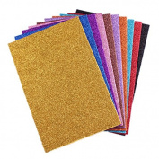 treasure-house 20 Sheets A4 Glitter Self-Adhesive Craft Vinyl Art Sparkling Sign Sticker Gemstone Metallic Colour Diy Gift