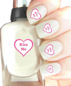 Easy to use, High Quality Nail Art Decal Stickers For Every Occasion! Ideal Christmas Present / Gift - Great Stocking Filler Kiss Me