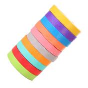 Boladge 10rolles DIY Scrapbooking Decorative Rainbow Washi Tape Adhesive Sticky Arts Crafts Masking Tape