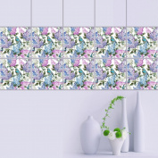 JHYS TS003 Flowers and birds pattern PVC Waterproof oil-proof Removable Self-adhesive Tile stickers 20cm x 20cm × 10pcs