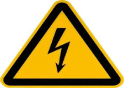 smartboxpro 245153705 Warning Sign Warning – Electric Voltage, 20 cm, Yellow/Black