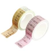 Westeng 2 Rolls Washi Tape Decorative Masking Adhesive Tape Rainbow Sticky Paper Tape Scrapbooking DIY Craft