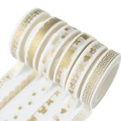 Westeng 10 Rolls Washi Tape Decorative Masking Adhesive Tape Rainbow Sticky Paper Tape Scrapbooking DIY Craft