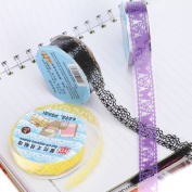 5pcs Decorative Sticky Adhesive Lace Tape for DIY Craft