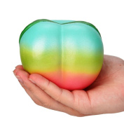 Mingfa Jumbo Squishies Creative Cute Rainbow Honey Peach Stress Reliever Squeeze Toy Super Slow Rising Fun Soft Decompression Toys 11CM