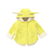 erthome 1PC Toddler Baby Boys Girls Ear Warm Winter Tops Casual Clothes Coat