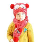 Originaltree Baby Kids Beanie Hat + Scarf Set Owl Cap Winter Knitted Warmer Caps Hat