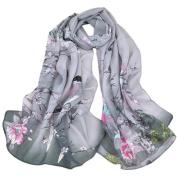Kavitoz Fashion Women Long Leopard Shade Shawl Scarf Wrap Soft Oversized Chiffon Scarves