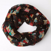 Kavitoz Women Ladies Owl Pattern Print Scarf Warm Wrap Shawl,Choice of Colours