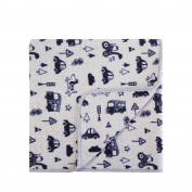 Bluezoo Kids Grey Transport Print Blanket