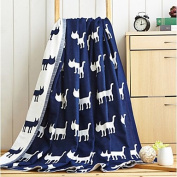 "Coral fleece Animals Polyester/Cotton Blend Blankets , w79"" x l90"""