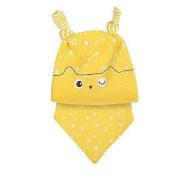 dragonaur Unisex Baby Newborn Toddler Star Print Hat Cap + Bib Saliva Towel Scarf