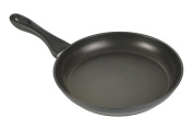 Silit Senso Frying Pan Coated Pouring Rim Stainless Steel Handle, Black, 28 cm