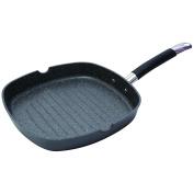 MasterPro Home Edition Grill Pan, Black, 28 x 28 x 4.5 cm