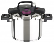 GSW Stahlwaren GmbH Easy Click Pressure Cooker with Insert, Silver/Black, 22 x 17 cm, 6 Litre