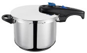 GSW Stahlwaren GmbH System Classic Pressure Cooker with Insert, Silver/Black, 22 x 17 cm, 6 Litre