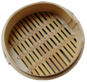 Whole Bamboo Steamer Handmade Sini Steamer 30cm Chinese Characteristics Steamer Kitchen Steamed Bamboo Steamer Suit,Beige-30cm