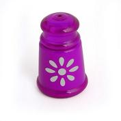 DealMux Plastic Home Kitchen Restaurant Cylindrical shaped Toothpick Holder Storage Case Purple