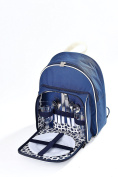 Woodluv Insulated Picnic Backpack for 2 persons- Blue