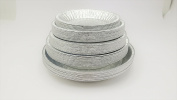 KitchenDance Disposable Aluminium Pie Pan Combo Pack- 10 of each size for 50 total pie pans