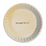 Magenta WHO BROUGHT THE PIE Dish by Rae Dunn Artisan Collection