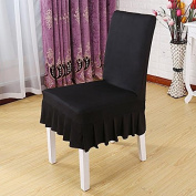 HUAJI Simple Chair Decor Cover For Home Chair Decoration-Black