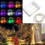 Lights & Lighting - 20 Led Battery Copper Wire String Fairy Light Wedding Xmas Party Lamp Waterproof - Battery Led Copper Wire Lights String Remote Fairy Operated - 1PCs