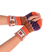 JianFeng Women's Fingerless Stretchy Knit Gloves