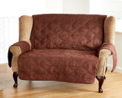 Luxury Faux Suede Furniture Protectors Pinsonic Quilted Detail With Piped Edges 5 Colours and 3 Sizes